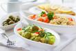 Healthy vegetarian salads