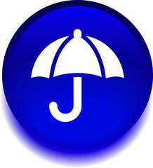 круглый векторный значок с изображением зонта