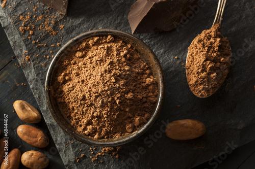 Surowy organiczny proszek kakaowy