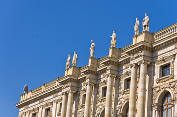 19th century architecture on Maria Theresa square in Vienna