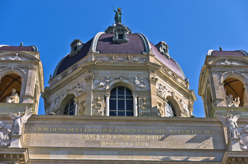 Natural History museum on  Maria Theresa square in Vienna