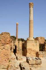 Old Carthage ruins in Tunisia
