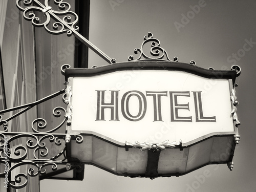 old hotel sign - 68444607