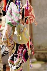 Woolen caps for sale in Pitam Deurali-Nepal. 0552