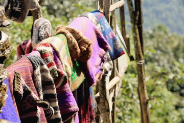 Woolen items for sale. Pitam Deurali-Nepal. 0553
