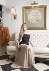 very sensual elegant girl indoor