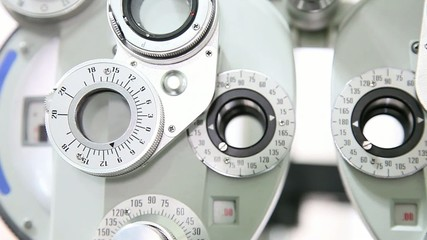 Optometrist instrument detail