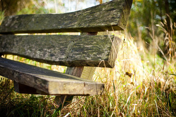 Alte Sitzbank aus Holz