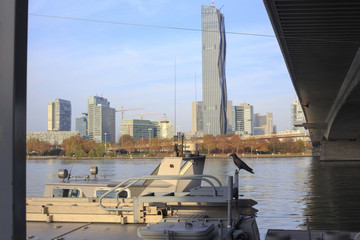 This pic shows Unocity, Donaucity in Vienna