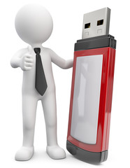 Männchen mit USB Stick