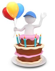 Überraschung Geburtstagskuchen