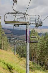 Ski lift on on the top of mountain 4