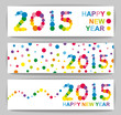 Happy New Year illustration banners collection