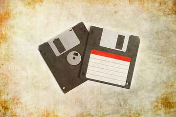 """3,5"""" Disketten mit Textur Hintergrund, Retro, Vintage"""