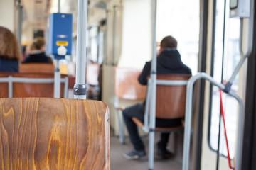 trolley bus interior