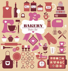 Bakery icon set. Vector illustration for your drsign.