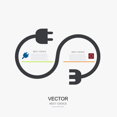vector modern plug background. infographic.