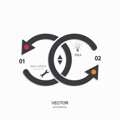 vector modern busainess infographic.
