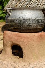 Kookpot uit een Afrikaans dorpje