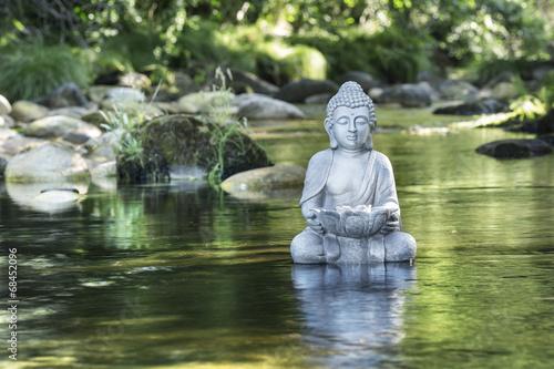 Leinwanddruck Bild Bouddha et Bien-être