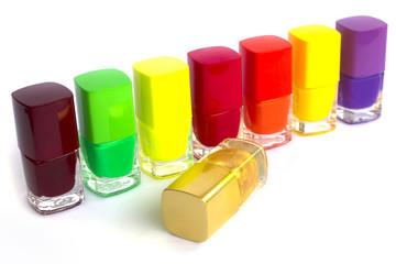 Multi color nail polish set
