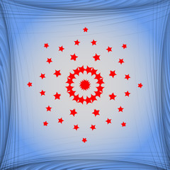 star web icon on a flat geometric abstract background