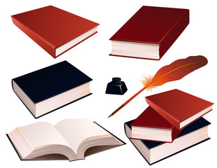 Book İnk Pen And İnk İsolated