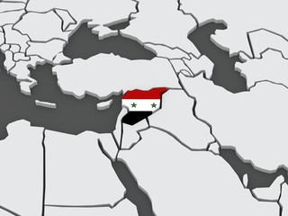 Map of worlds. Syria.