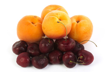 Fresh Apricot and Cherry