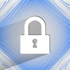 padlock. Flat modern web design on a flat geometric abstract