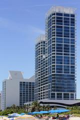 Buildings on Miami Beach stock image