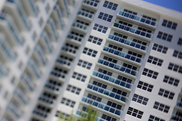 Miniature model building tilt shift
