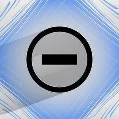 minus. Flat modern web design on a flat geometric abstract