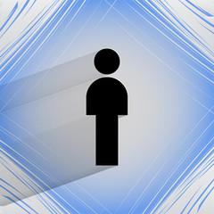 man restroom. Flat modern web design on a flat geometric