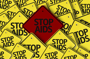 Stop AIDS written on multiple road sign