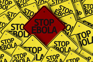 Stop Ebola written on multiple road sign