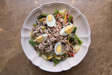 Tuna Salad with boiledegg