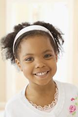 African girl smiling