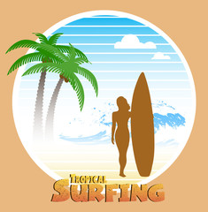 Hawaiian surfing label
