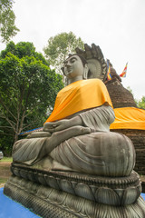 buddha statue at 500 golden pagodas temple ,Thailand