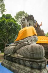 buddha statue at 500 golden pagodas temple ,Thailand