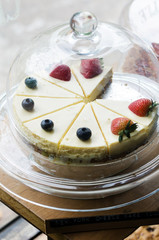 Strawberry and Blueberry cheesecake