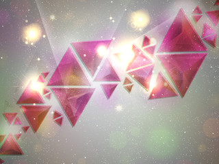Background of 3d Triangles
