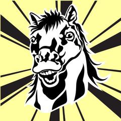 horse 's face  vector silhouette