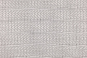 Gray fabric texture with striped hemstitch