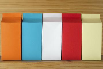 Row of  Cartons - Five Varieties