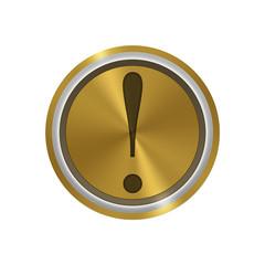 Icone en or : exclamation