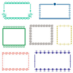 vector frame isolated
