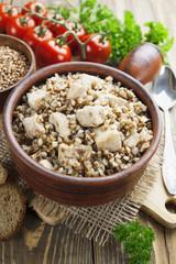 Buckwheat porridge with meat