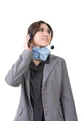Asian woman customer service worker